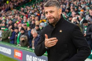 Stephen Robinson was linked to both Hearts and Hibs posts when they became available earlier this season. Picture: SNS