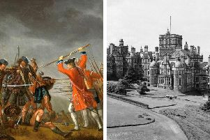 Money seized from the Jacobite estates following the Battle of Culloden in April 1746 (left) helped to fund major projects in Scotland, including the completion of the Royal Edinburgh Hospital at Morningside (right), which received around  500,000 in rebel money at today's values. PIC: Creative Commons/TSPL.