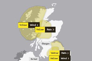 The Yellow weather warnings will stretch across much of the country. Picture: Met Office