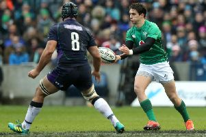 Joey Carbery is out of the Six Nations opener against Scotland. Picture: Getty Images