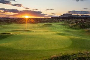 Dumbarnie Golf Links, the new Clive Clark-designed course in Fife which is set to open in May.