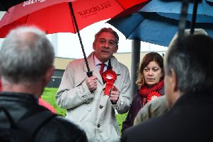 Scottish Labour leader Richard Leonard on the campaign trail during the general election. Picture: Andy Buchanan / Getty