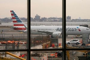 An American Airlines 737 Max sits at the gate at LaGuardia airport in New York. Photo: Don Emmert / AFP