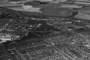 Almost all these houses in Grangemouth, pictured here in 1948, were demolished to make way for a massive expansion of the town driven by its new industrial prosperity. PIC: HES.