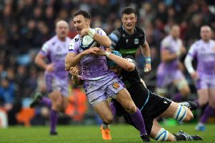 Glasgow must beat Exeter to keep their Champions Cup quarter-final hopes alive. Picture: Getty Images