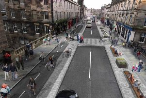 An artist's impression of what George Street would look as a pedestrian area - an idea which has been put back on the table in the council's plans.