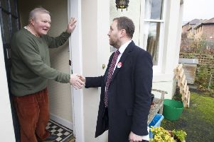Ian Murray speaks to voters ahead of the 2019 general election, which saw him returned as the only Labour MP in Scotland