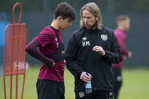 Austin MacPhee worked closely with Aaron Hickey during his time as assistant and then interim manager at Tynecastle. Picture: SNS
