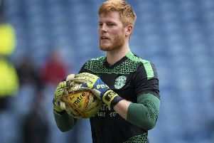 Adam Bogdan is happy to stay at Easter Road. Picture: SNS.