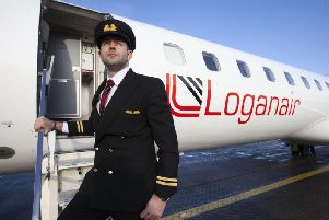 James Bushe, 31, has completed his training with Loganair.