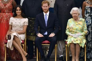The Queen issued the statement in the wake of talks over Harry and Meghan's decision to 'step back' from the royal family.