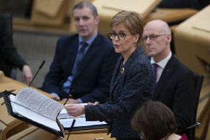 Nicola Sturgeon was challenged in parliament over problems with South Lanarkshire's care services (Picture: Jane Barlow/PA)