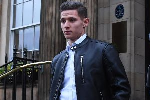 Celtic transfer target Patryk Klimala leaves his hotel in Glasgow. Picture: Paul Devlin/SNS