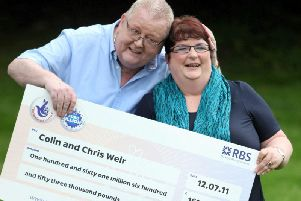Colin and his then-wife Chris in 2011. Picture: SWNS