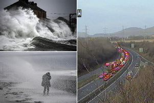 Storm Brendan: Major traffic delays on Scotland's busiest roads and railway services