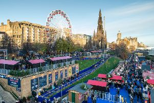 Edinburgh's Christmas market attracted vast crowds of tourists and locals alike (Picture: Ian Georgeson)
