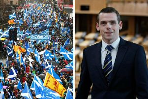 Scotland Office minister Douglas Ross insisted the SNP would have to wait up to 50 years before another independence referendum could be held