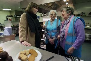 Jess Phillips visited a homeless shelter in Glasgow's city centre on Tuesday (Picture: David Cheskin/Getty Images)