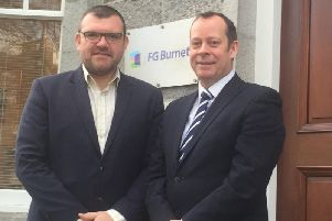 Jonathan Nesbitt and Graeme Nisbet of FG Burnett. Picture: Contributed