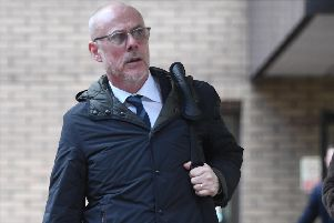 Former St Johnstone and Livingston winger Tommy Wright leaving Southwark Crown Court in London after he received a suspended prison sentence for bribery offences following an undercover newspaper investigation. Picture: PA
