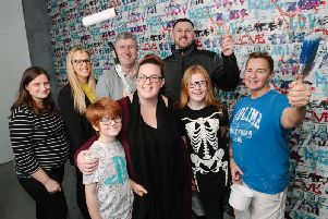 Mactaggart & Mickel staff helped Lee Davidson and her family decorate their home in time for Christmas. Picture: Andrew Crawley