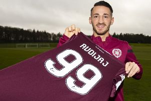 Done deal: Donis Avdijaj has joined Hearts until the end of the season. Picture: Ross MacDonald / SNS