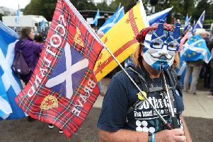 Scottish Independence campaigners in Edinburgh last October. Picture: Andrew Milligan/PA Wire