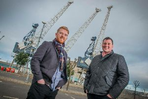 Seed Haus, founded by chief executive Calum Forsyth (left) and chairman Robin Knox, offers mentorship as well as capital to tech start-ups. Picture: Chris Watt