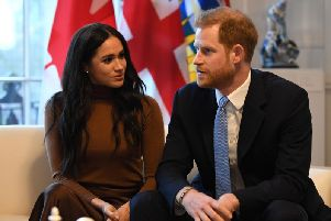 Prince Harry and Meghan Markle on a visit to Canada House, in London, earlier this month. Picture: Getty Images
