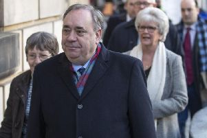 Alex Salmond denies all 14 charges against him. Picture: PA