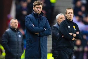 Rangers boss Steven Gerrard admitted his side were far from their best. Picture: SNS