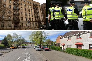 The Priesthill area of Glasgow (bottom) has been dubbed 'the Bronx' (top left) after a host of youth-related anti-social behaviour. Photo of the Bronx: Philip Capper, Flickr