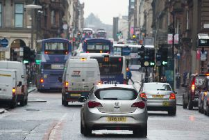 Part of Glasgow city centre is already covered by a 20mph limit. Picture: John Devlin