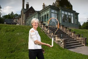 Judy Murray at Cromlix Hotel near Dunblane. Picture: Robert Perry