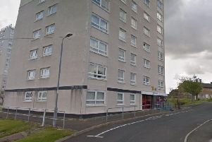 The fatal fire broke out at Sadlers Wells Court in East Kilbride. Picture: Google