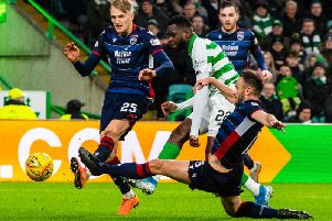 Odsonne Edouard scores his second for Celtic.