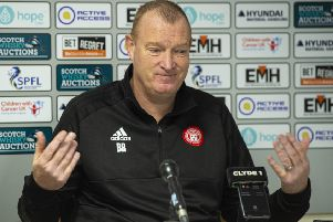 Hamilton manager Brian Rice speaks about his addiction. Picture: Ross MacDonald/SNS Group
