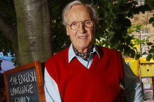 Nicholas Parsons in The Pleasance courtyard at the 2003 Fringe (Picture: Neil Hanna)