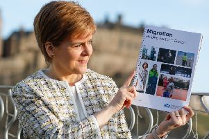 Nicola Sturgeon unveils the proposal for a Scottish visa