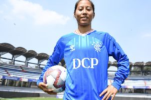 Bala Devi has made history by joining Rangers Women and becoming India's first ever female professional footballer