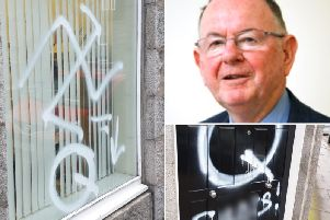 The office of Tom Mason MSP was targeted in the attack. Pictures: Tom Mason