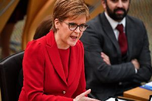 Nicola Sturgeon says the UK Government's refusal to allow a second independence referendum is a sign of weakness  (Picture: Jeff J Mitchell/Getty Images)