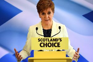 The First Minister spoke at Dynamic Earth in Edinburgh today. Picture: Getty