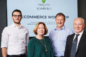 From left: Institute of Ecommerce co-founders Emil Stickland, Gillian Crawford, Graeme Harrowell and Peter Mowforth. Picture: contributed.
