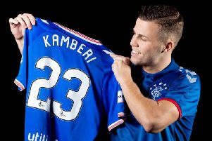Florian Kamberi has spoken after joining Rangers on loan until the summer. Picture: Rangers FC