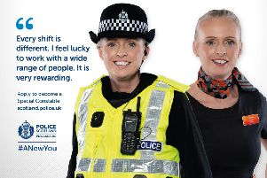 A Scottish special constable recruitment poster as part of a nationwide campaign to recruit new special constables. Picture: PA