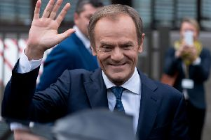 Donald Tusk doesn't want to wave goodbye to Scotland (Picture: AFP/Getty)