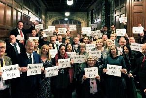 The SNP have staged an unprecedented protest in the House of Commons against controversial rules on English Votes for English Laws PICTURE: Supplied