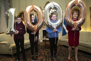 Nicola Sturgeon with some of the 1000 care experienced young people she has met with over the last three years.
