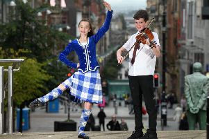 Pupils from the Glasgow Gaelic School gear up for the Royal National Mod. Picture: Paul Chappells